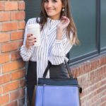 striped tie blouse