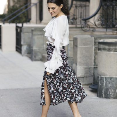 The trick to finding the right midi length skirt