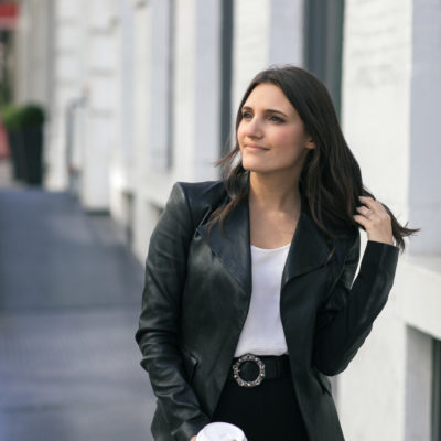 how to style your leather jacket for the office